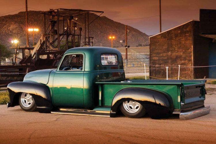 1953 Chevrolet 3100 Pickup Hotrod Streetrod Hot Rod Street Lowered Low USA 2500x1667-05 wallpaper