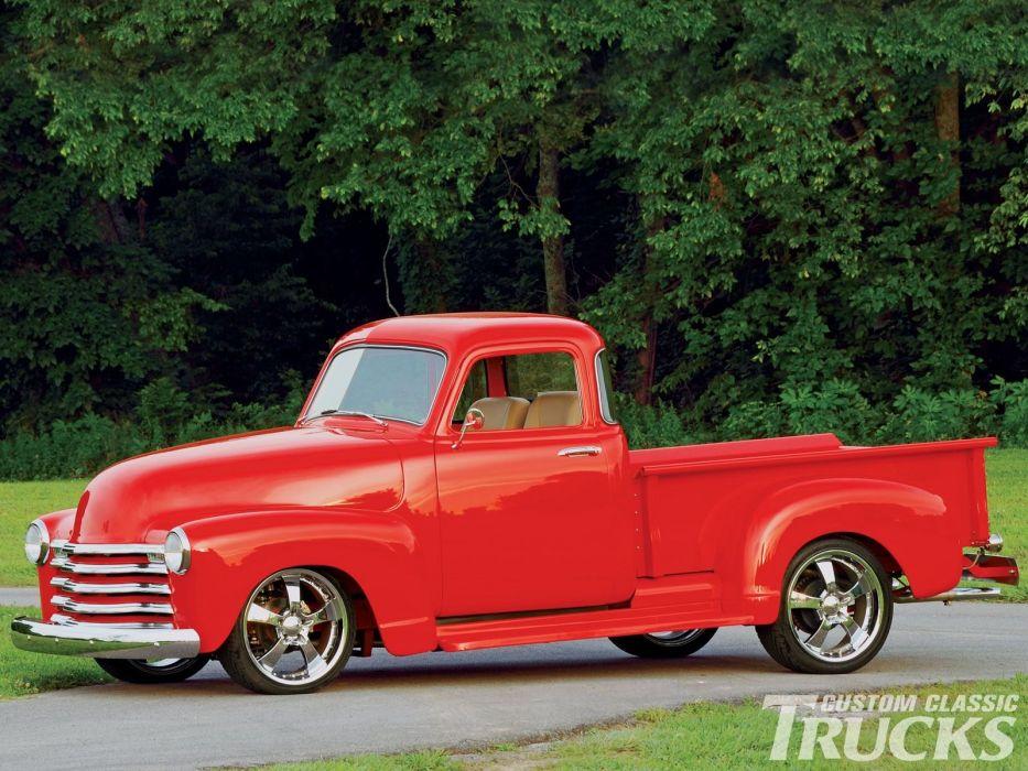1953 Chevrolet 3100 Pickup Hotrod Streetrod Hot Rod Street USA 1600x1200-01 wallpaper
