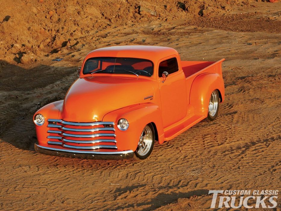 1953 Chevrolet 3100 Pickup Hotrod Streetrod Hot Rod Street USA 1600x1200-03 wallpaper