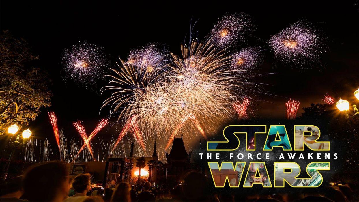 STAR WARS sci-fi action fighting futuristic series adventure disney warrior poster fireworks wallpaper