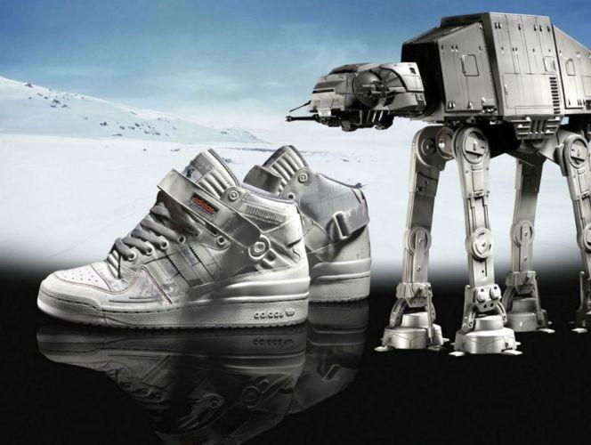 STAR WARS sci-fi action fighting futuristic series adventure disney adidas shoe shoes fashion poster wallpaper