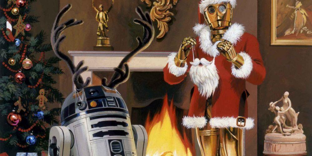 STAR WARS sci-fi action fighting futuristic series adventure disney christmas wallpaper
