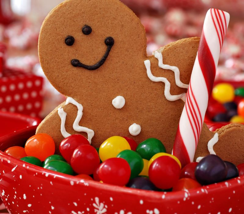 cookies christmas holiday sweets candy new year wallpaper