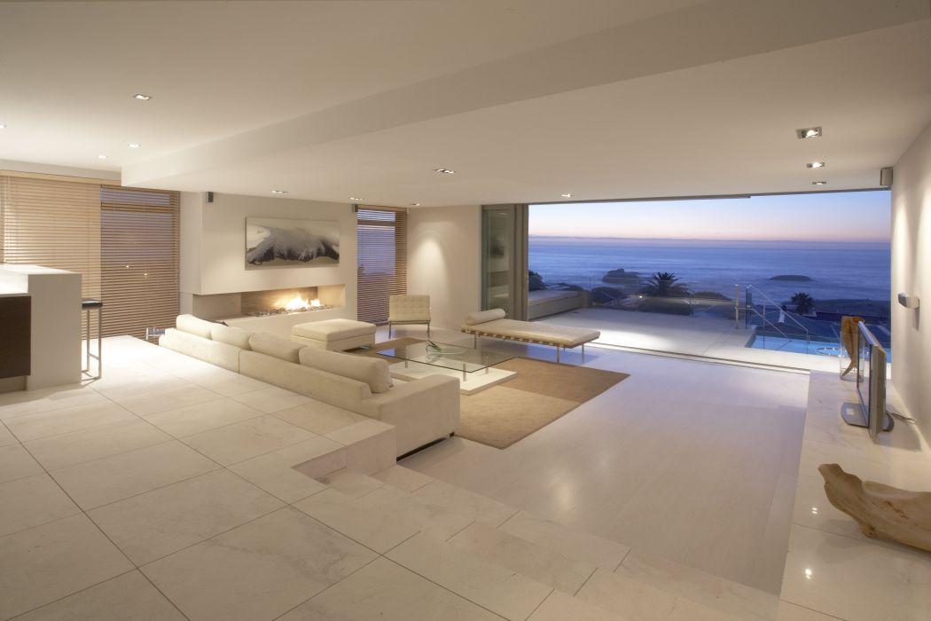 balcony sofas interior design apartment room suite sea ocean landscape penthouse desk tv wallpaper