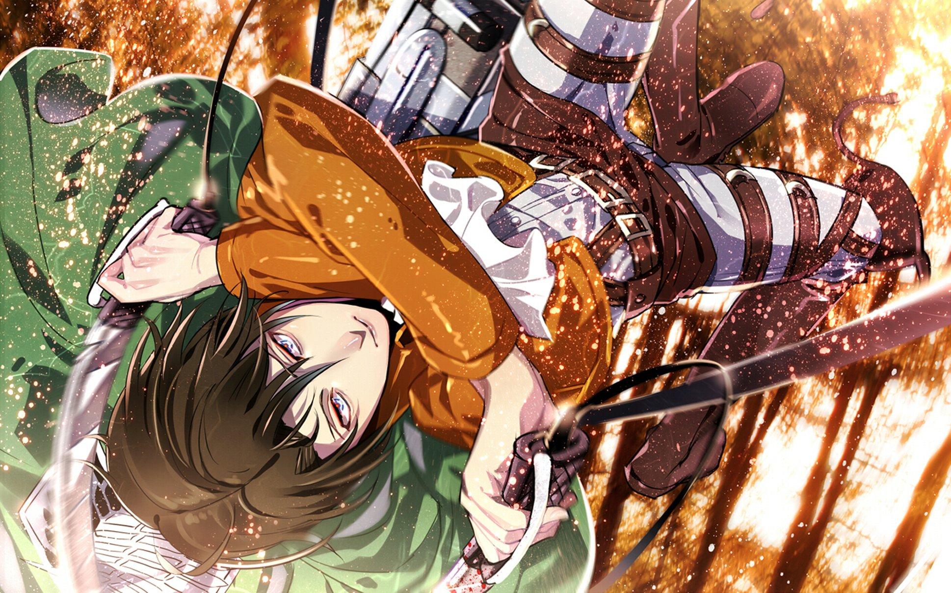 Attack On Titan Shingeki No Kyojin Guy Anime Art Rivaille Levi Wallpaper 1938x1208 932959 Wallpaperup