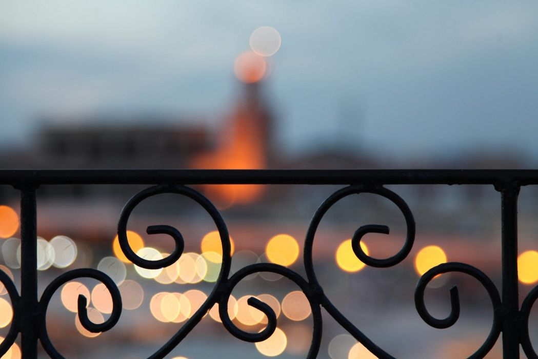 beauty marrakech morocco bokeh glare balcony fence light wallpaper
