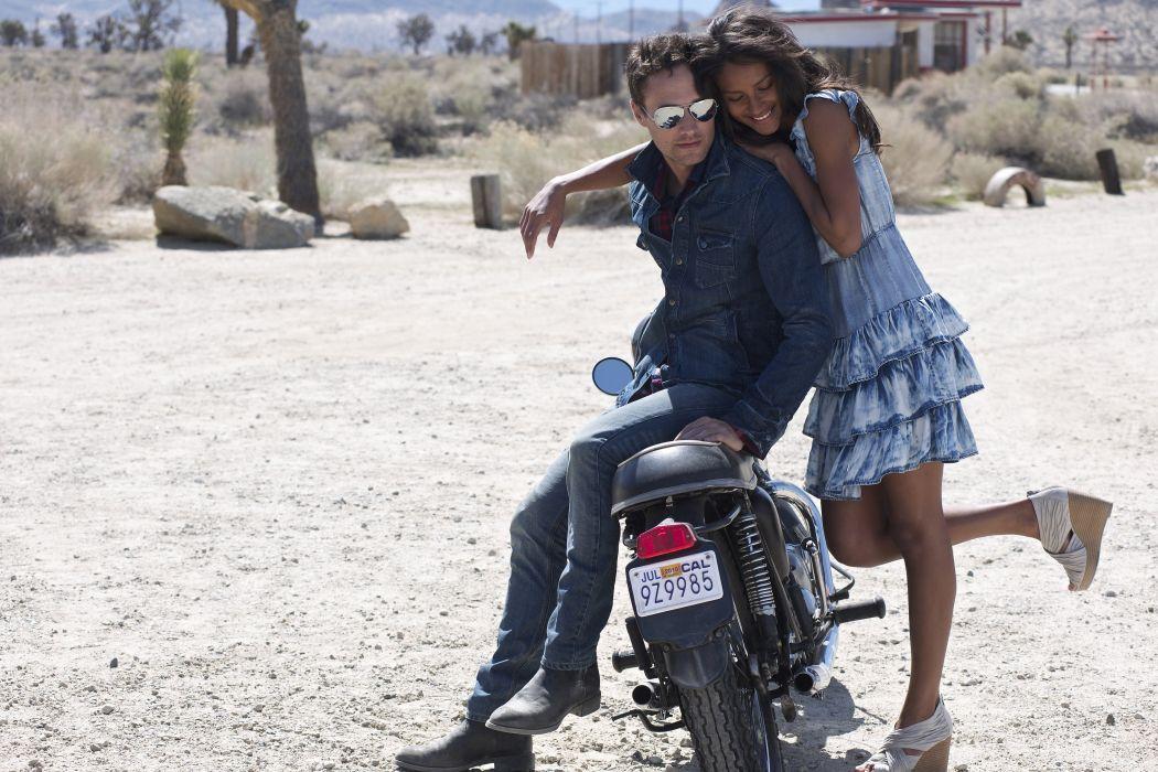 couple motorcycle hugging girl guy wallpaper