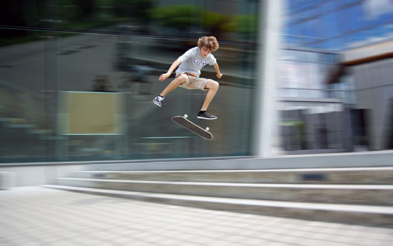 boy jump skateboard board guy trick extreme steps wallpaper