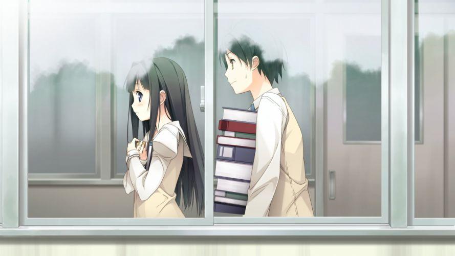 your diary kantoku anime box girl guy wallpaper