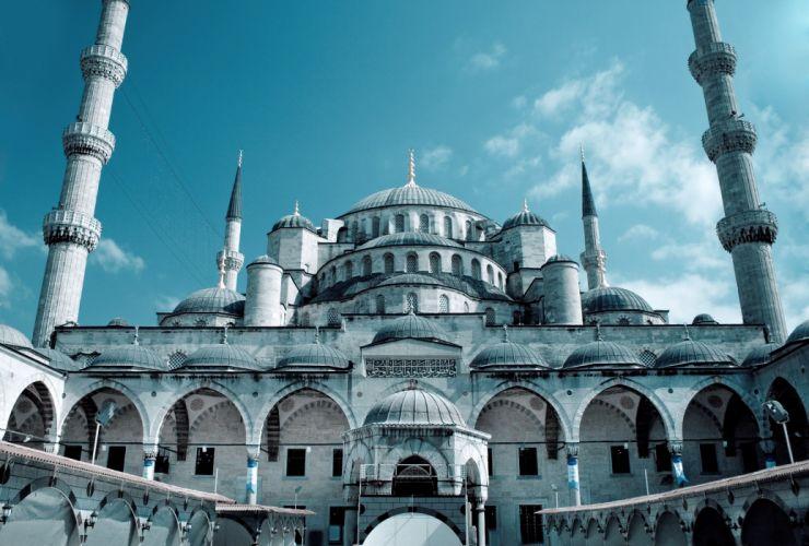 grand mosque sultanahmet mosque istanbul turkey wallpaper