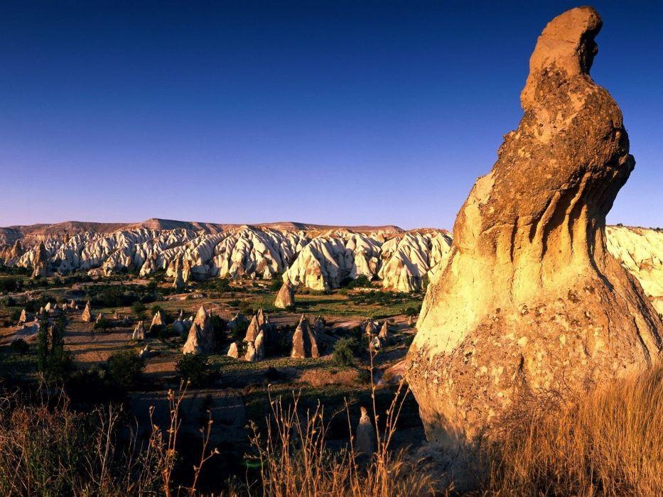 cappadocia turkey ledge stone gear wallpaper