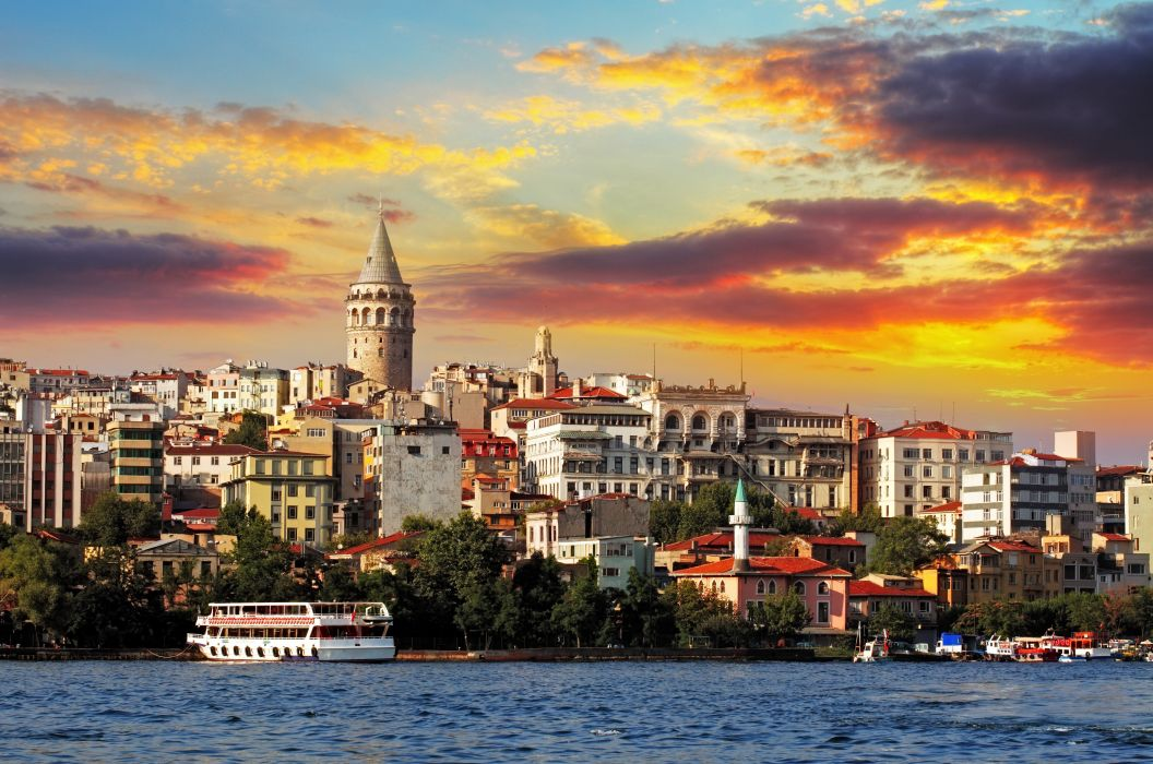istanbul turkey sea buildings wallpaper