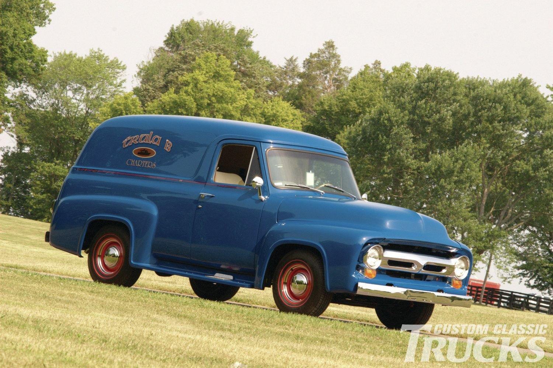 1954 Ford F100 Panel Hotrod Hot Rod Custom Kustom Old Scholl Usa 1600x1200 04 Wallpaper 1500x1000 933092 Wallpaperup