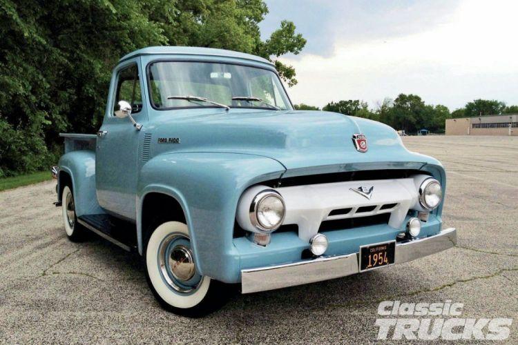 1954 Ford-F100 Pickup Classic Old Vintage Original USA 1500x1000-01 wallpaper