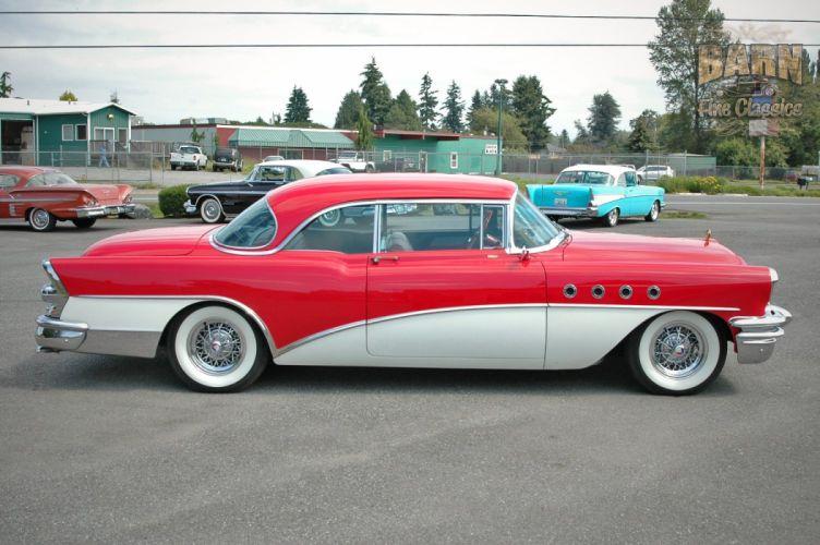 1955 Buick Roadmaster Coupe Classic Old Vintage Retro USA 1500x1000-02 wallpaper
