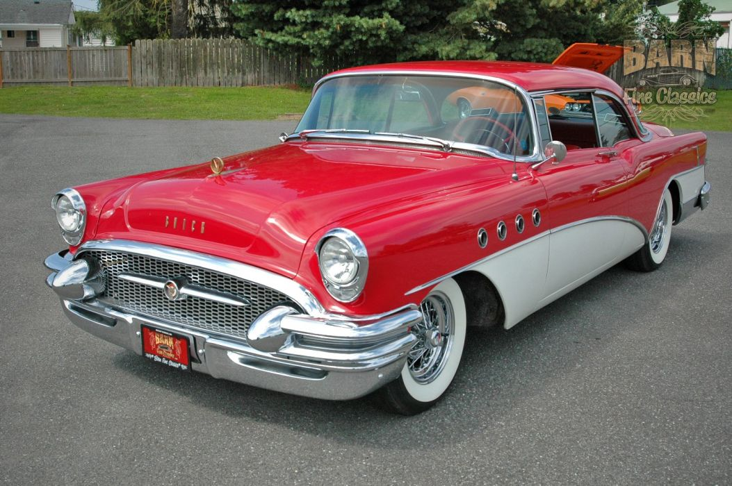 1955 Buick Roadmaster Coupe Classic Old Vintage Retro USA 1500x1000-09 wallpaper