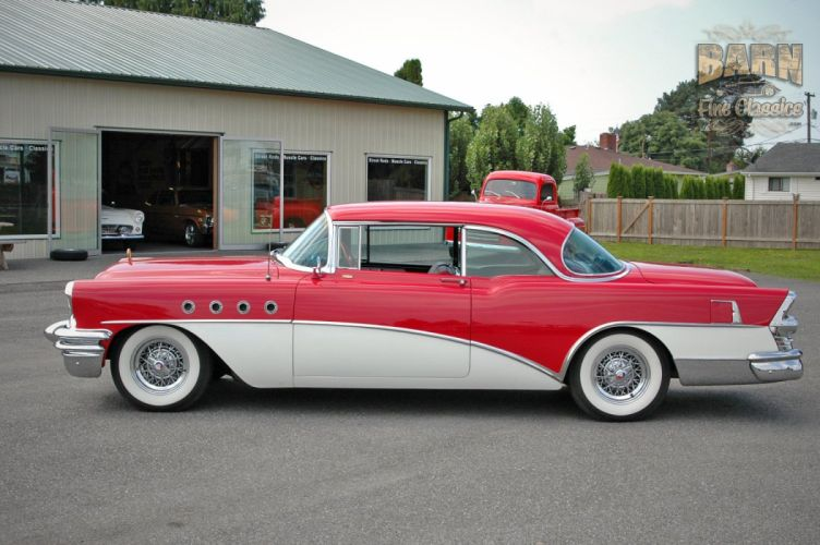 1955 Buick Roadmaster Coupe Classic Old Vintage Retro USA 1500x1000-18 wallpaper