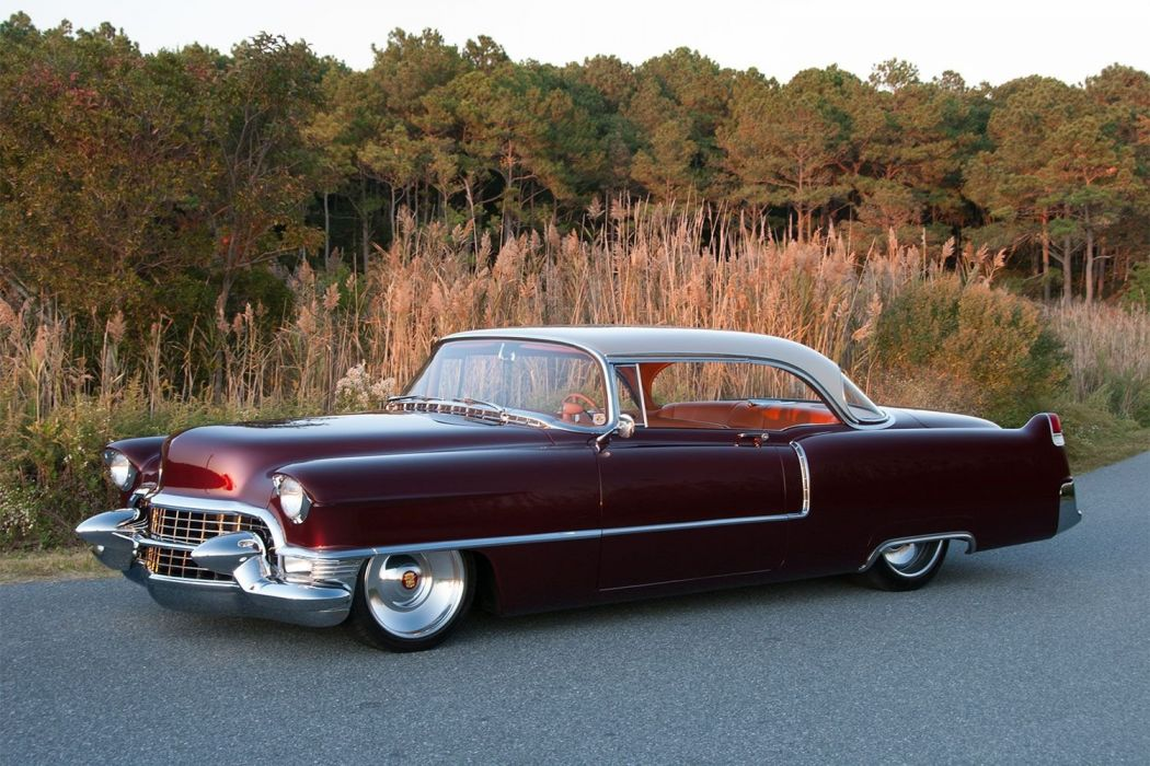 1955 Cadillac Coupe de ville Hotrod Hot Rod Custom Low USA 1500x1000-02 wallpaper