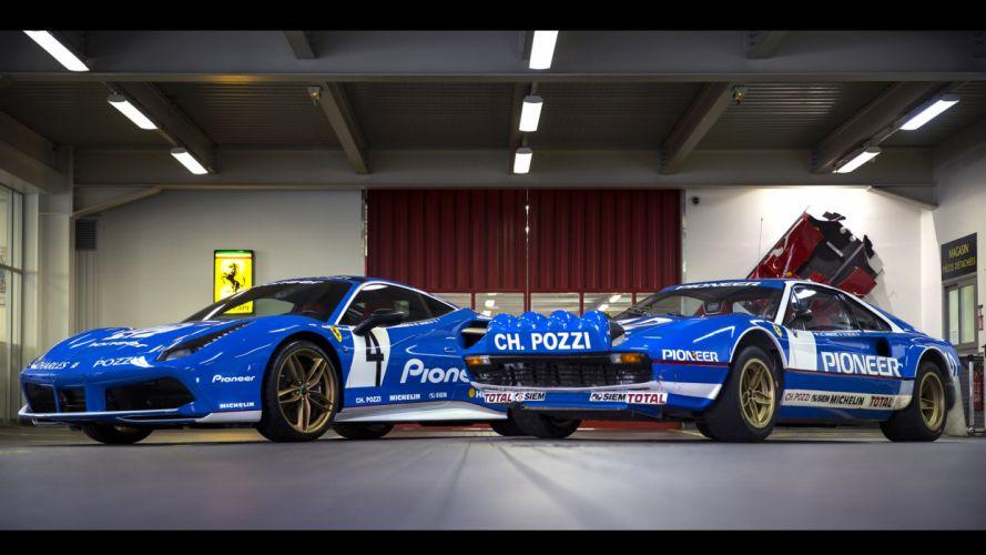 2016 Ferrari 488 GTB Pioneer livery cars blue modified wallpaper