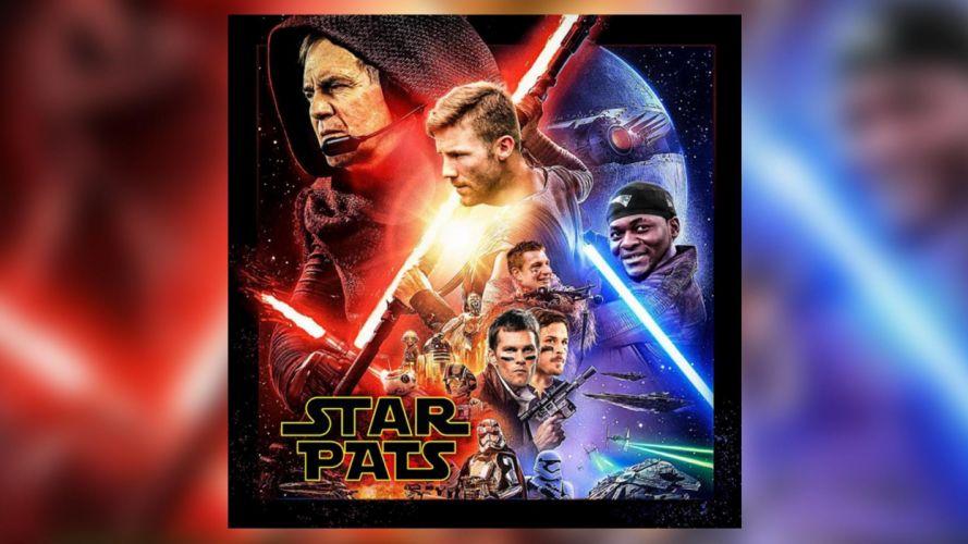 STAR WARS sci-fi action fighting futuristic series adventure disney poster new england patriots nfl football wallpaper