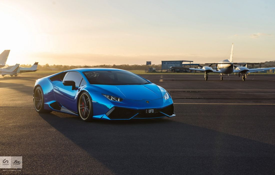 Blue Chrome Lamborghini Huracan cars modified wallpaper