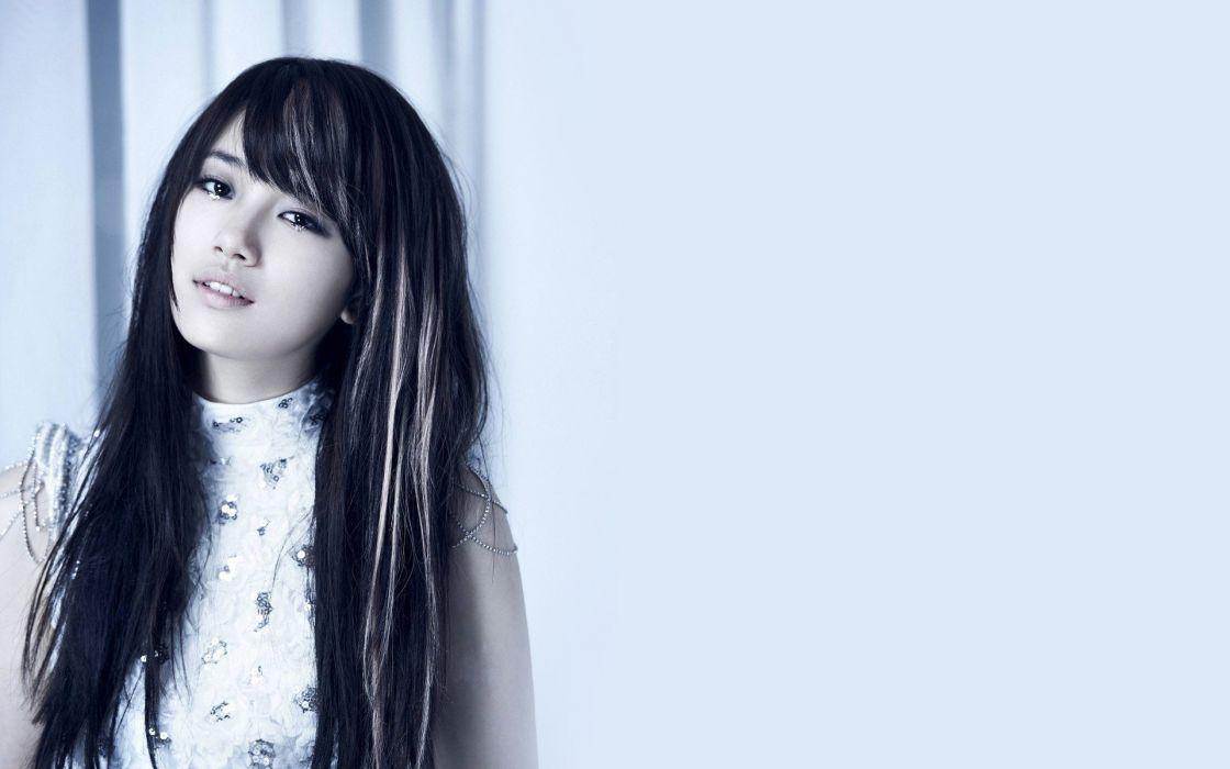 asian brunette hairstyle dress eyes wallpaper