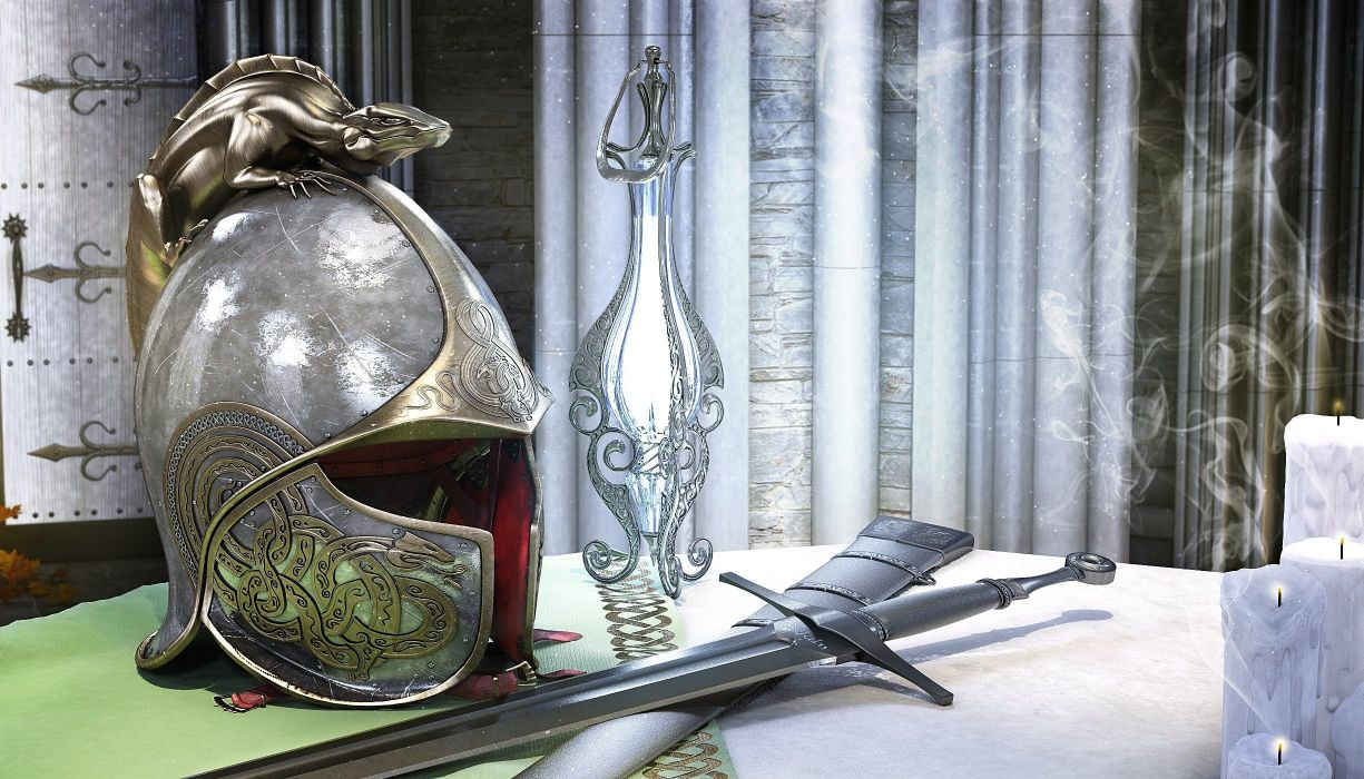 helmet sword background wallpaper