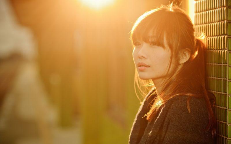 beautiful female asian girl look light wallpaper