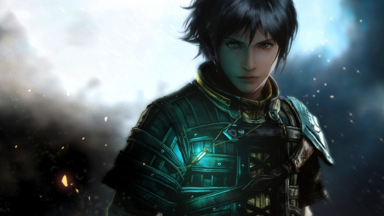 the last remnant girl armor face look wallpaper