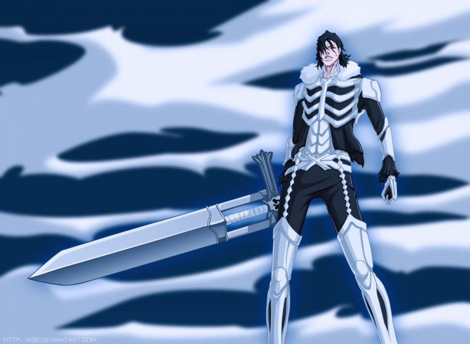 guy weapons sword sky armor wallpaper