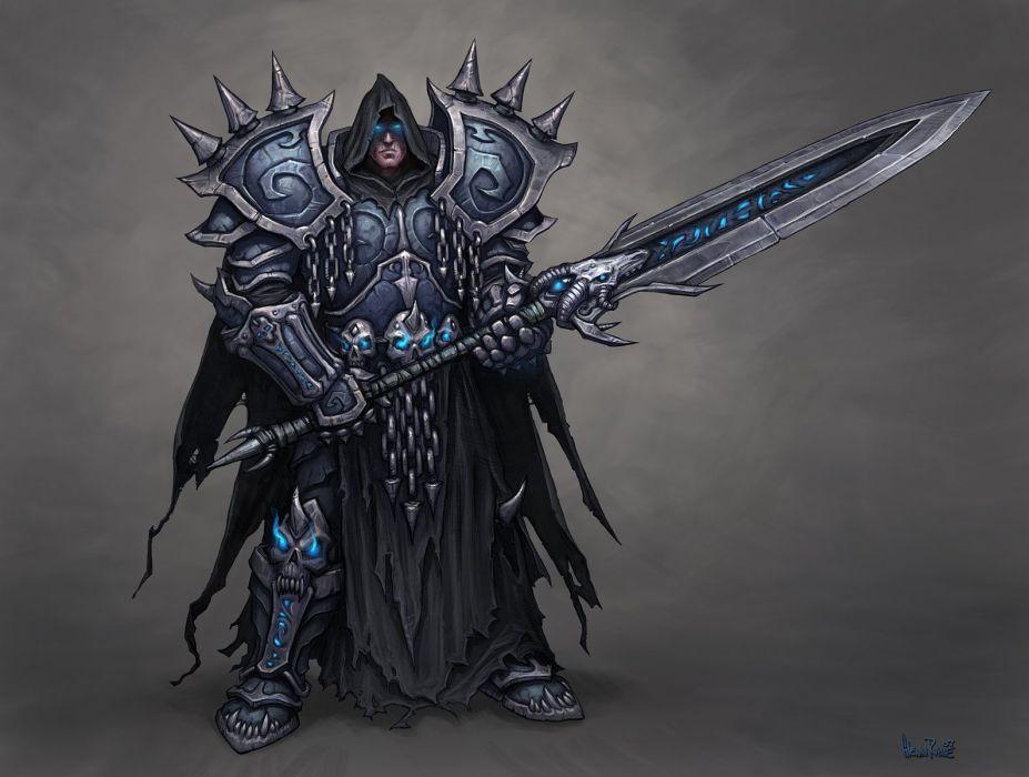 warcraft knight sword warrior armor strong wallpaper