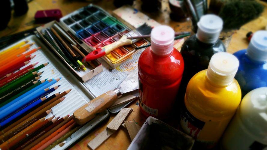 beauty art painting paint pencils wallpaper