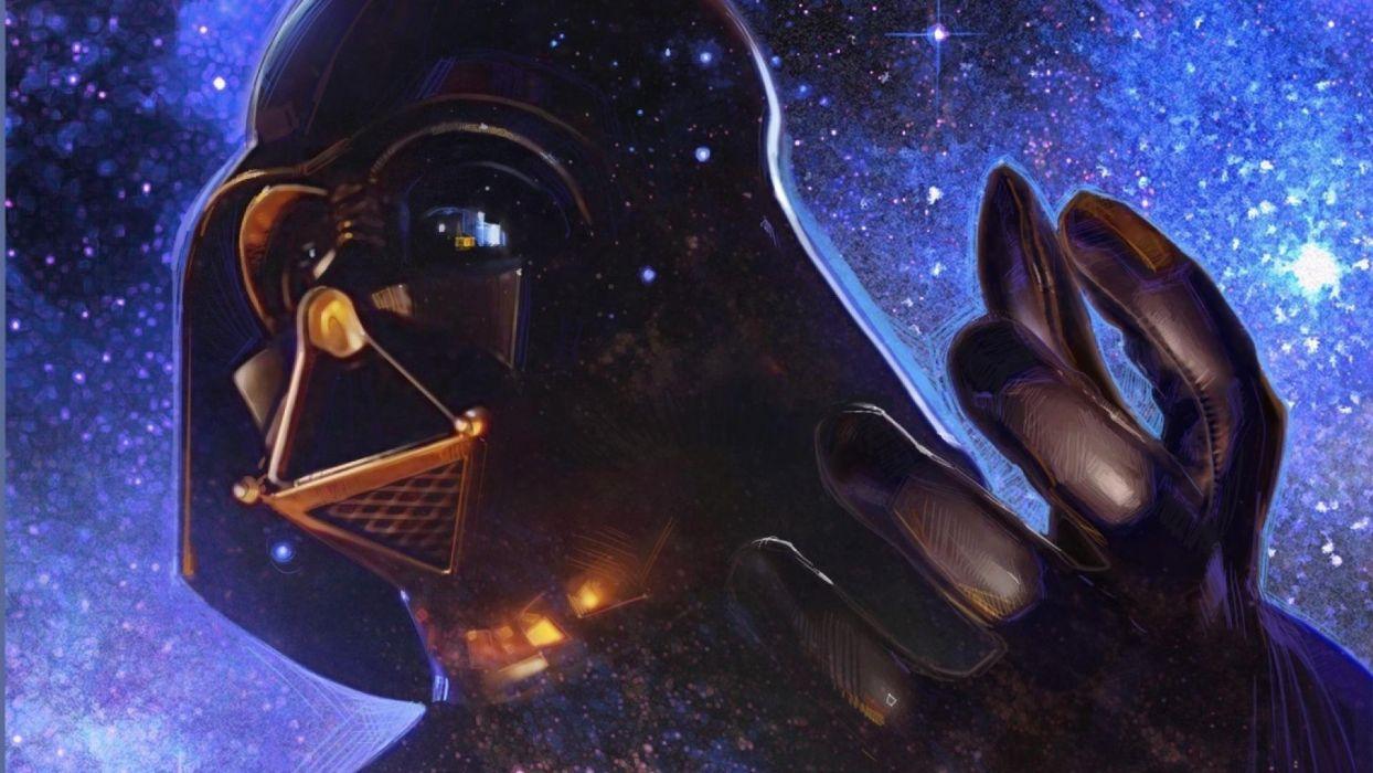 STAR WARS sci-fi acdtion fighting futuristic series adventure disney warrior darth vader cyborg wallpaper