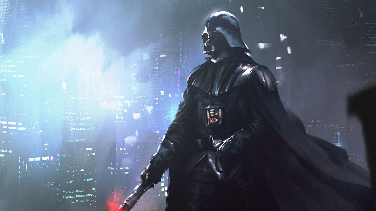 STAR WARS sci-fi acdtion fighting futuristic series adventure disney warrior darth vader cyborg wallpaper