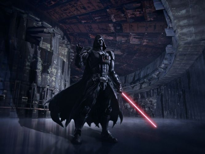 STAR WARS sci-fi action fighting futuristic series adventure disney warrior darth vader cyborg wallpaper