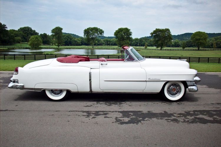 1953 Cadillac Series 62 Convertible Classic OLd Vintage White USA -02 wallpaper