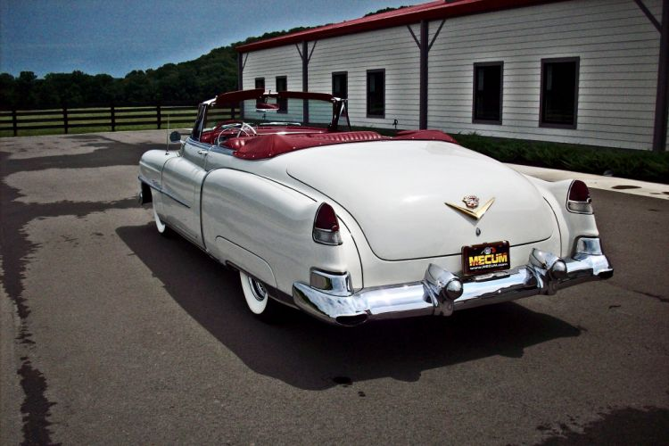 1953 Cadillac Series 62 Convertible Classic OLd Vintage White USA -03 wallpaper
