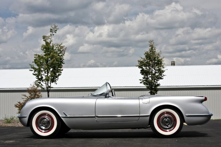 1954 Chevrolet Corvette Styling Classic Old Vintage Original Silver USA 3584x2345-01 wallpaper