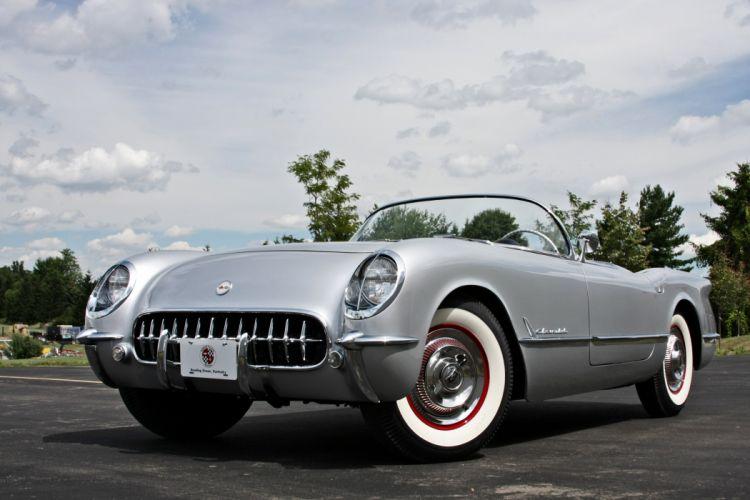 1954 Chevrolet Corvette Styling Classic Old Vintage Original Silver USA 3584x2345-03 wallpaper