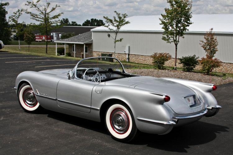 1954 Chevrolet Corvette Styling Classic Old Vintage Original Silver USA 3584x2345-07 wallpaper