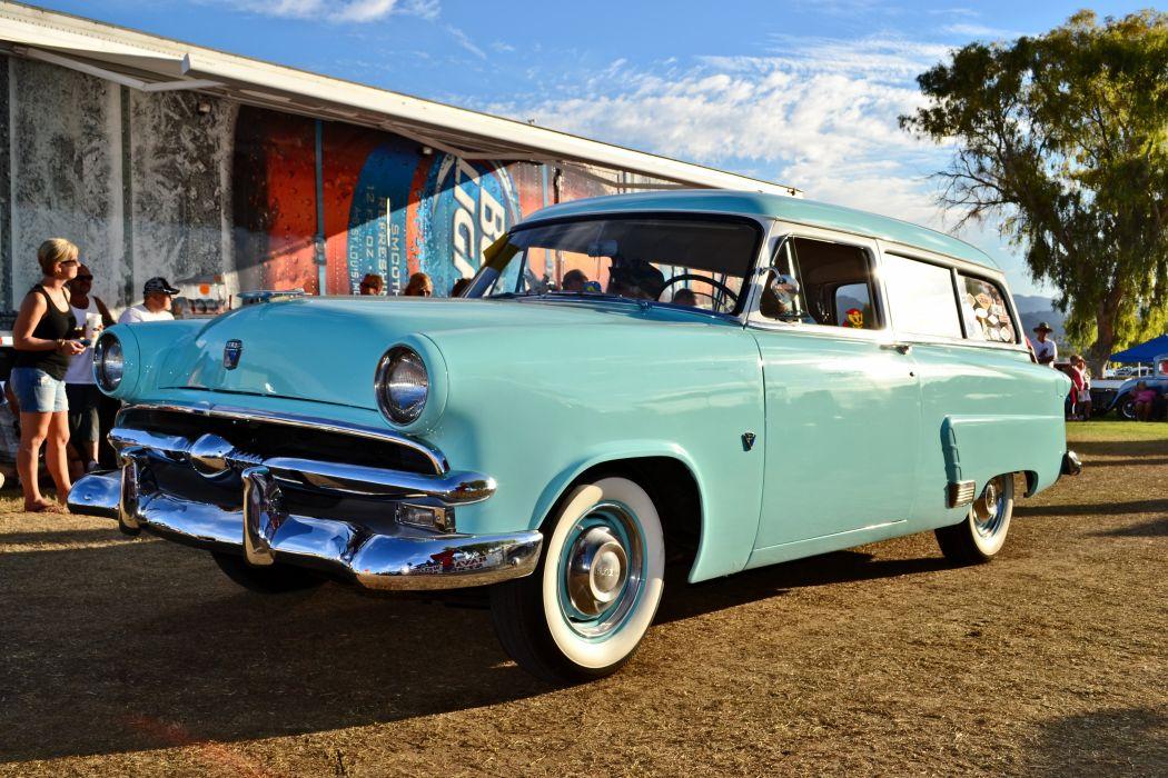 1953 Ford Ranch Wagon Classic Old Vintage Retro Original USA -01 wallpaper