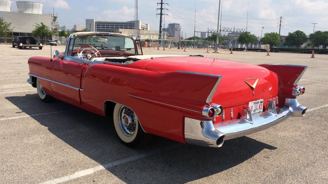 1955 Cadillac Eldorado Convertible Classic Old Vintage Retro Red USA 3264x1836-05 wallpaper