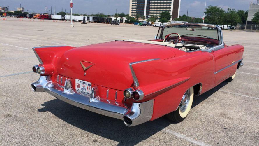 1955 Cadillac Eldorado Convertible Classic Old Vintage Retro Red USA 3264x1836-07 wallpaper