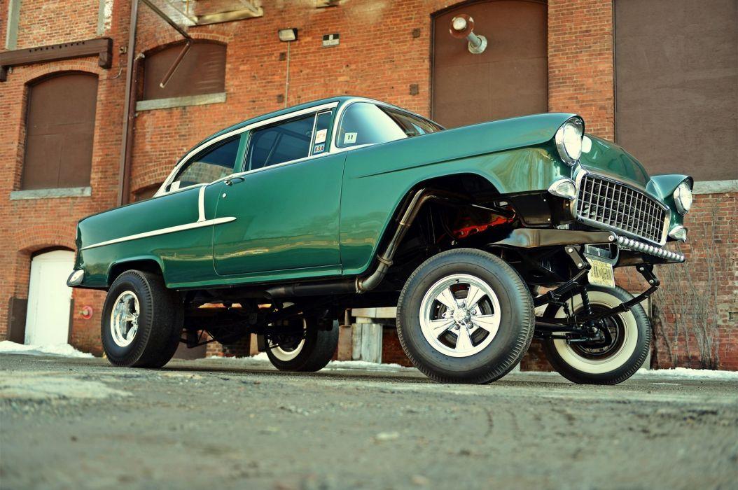 1955 Chevrolet 210 Sedan Two Door Gasser Drag Dragster Street Hot USA 2048x1360-01 wallpaper