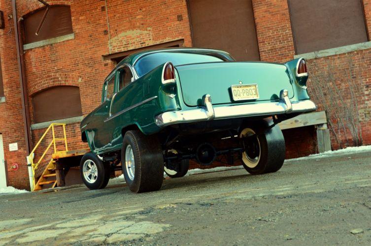 1955 Chevrolet 210 Sedan Two Door Gasser Drag Dragster Street Hot USA 2048x1360-03 wallpaper