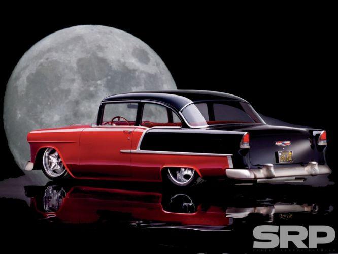 1955 Chevrolet 210 Sedan Two Door Hotrod Streetrod Hot Rod Street USA 1600x1200-04 wallpaper