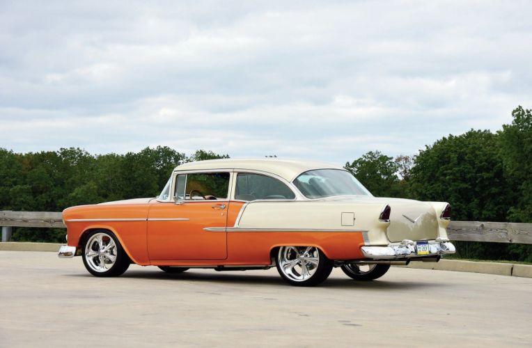 1955 Chevrolet 210 Sedan Two Door Hotrod Streetrod Hot Rod Street USA 2048x1340-07 wallpaper