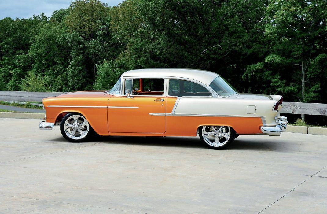 1955 Chevrolet 210 Sedan Two Door Hotrod Streetrod Hot Rod Street USA 2048x1340-10 wallpaper