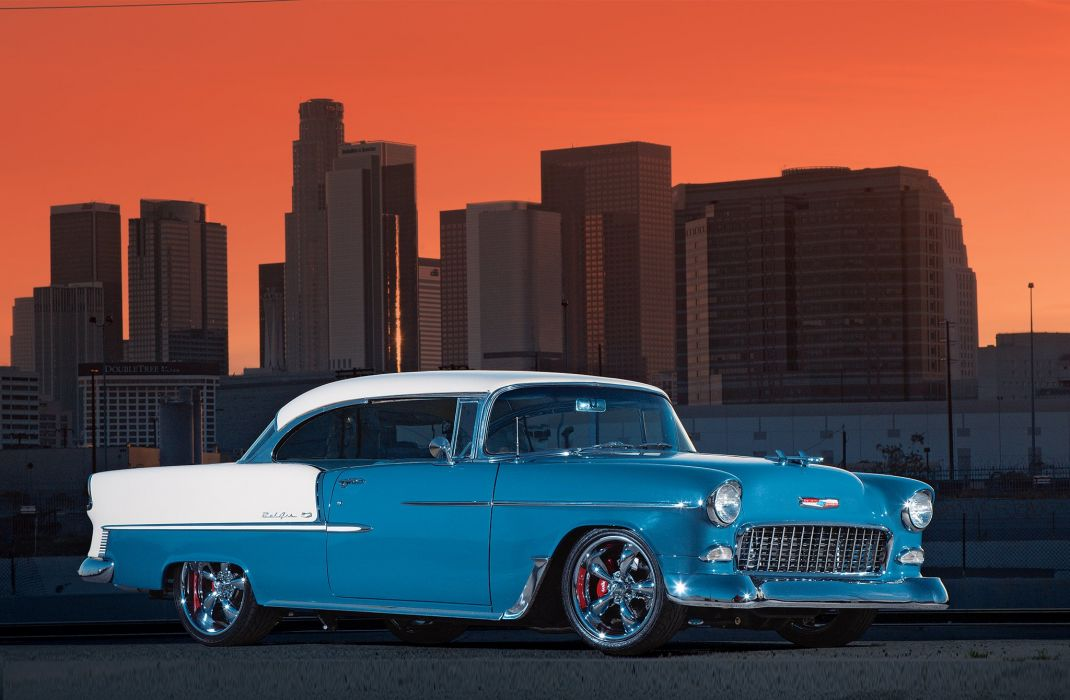1955 Chevrolet 210 Sedan Two Door Hotrod Streetrod Hot Rod Street USA 2048x1340-12 wallpaper