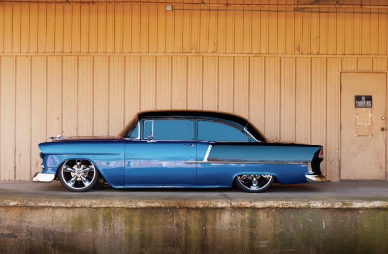 1955 Chevrolet 210 Sedan Two Door Hotrod Streetrod Hot Rod Street USA 2048x1360-19 wallpaper